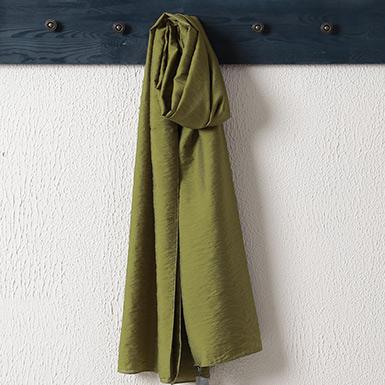 ipekistanbul - %15 İpek Karışımlı Düz Renk Şal - Yeşil