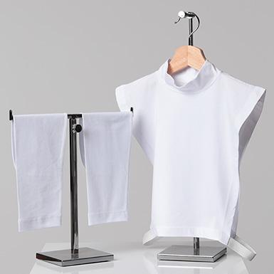ipekistanbul - 2'li Tesettür Boyunluk Kolluk Set - Beyaz