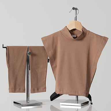 ipekistanbul - 2'li Tesettür Boyunluk Kolluk Set - Kahverengi