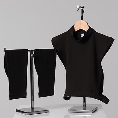 ipekistanbul - 2'li Tesettür Boyunluk Kolluk Set - Siyah