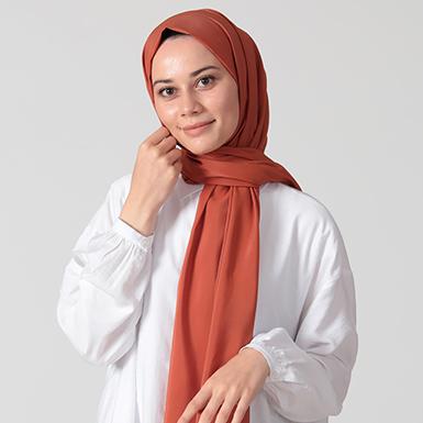 ipekistanbul - %30 İpekli Düz Renk Pamuk Şal - Karamel