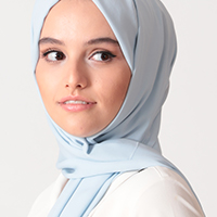 Beta Krep Şal - Buz Mavisi - Thumbnail