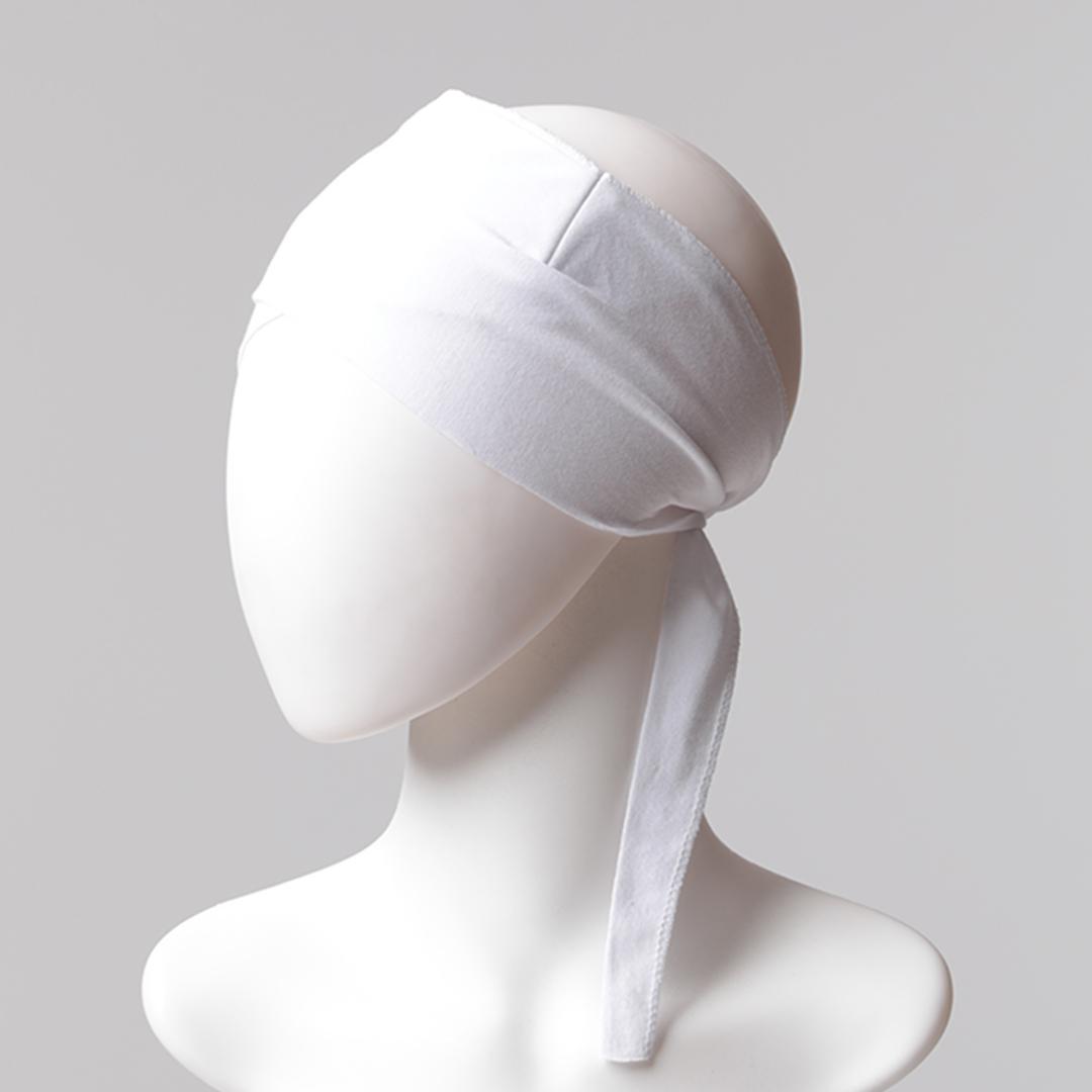 Çapraz Bandana Bone - Beyaz