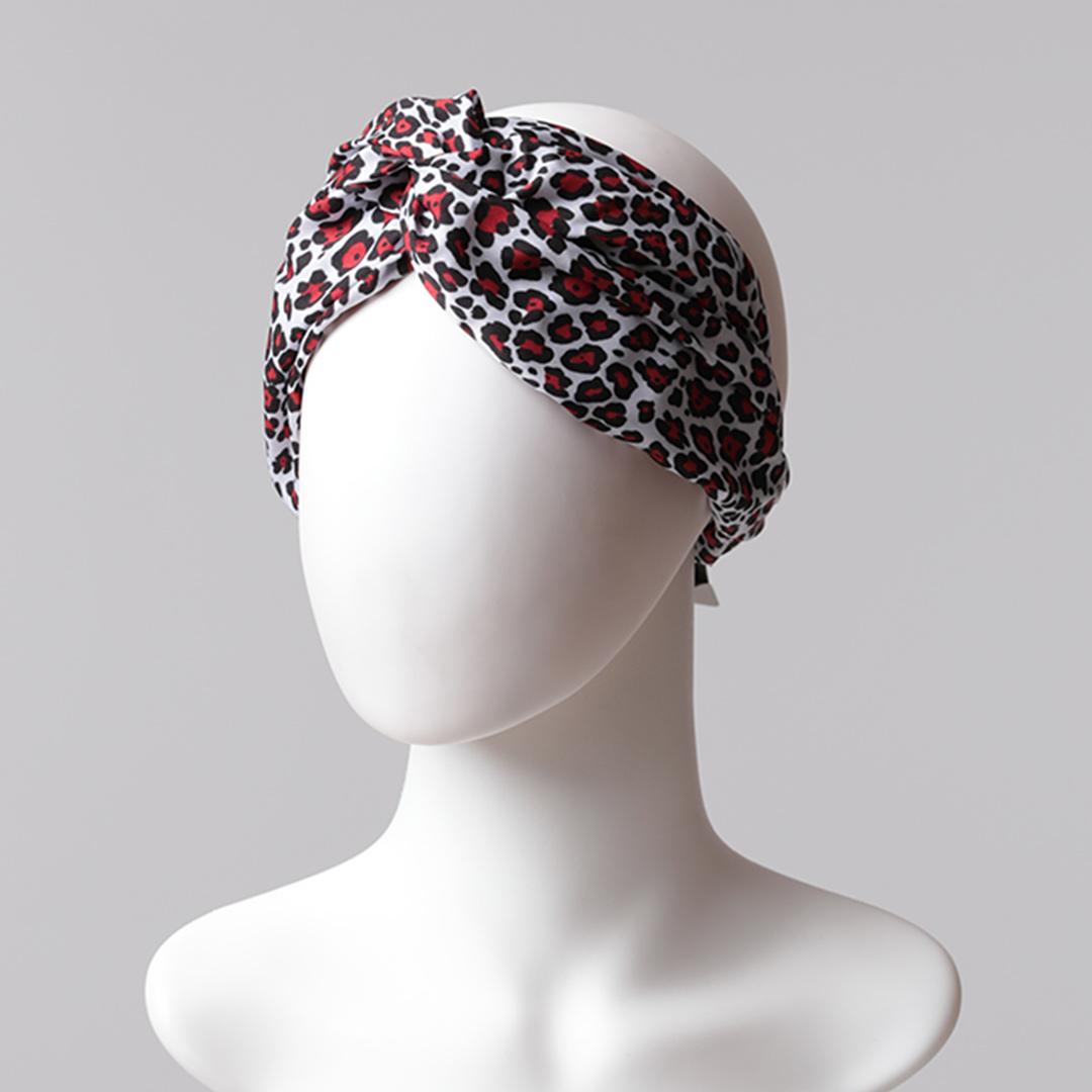 Desenli Saç Bandı - Siyah Kırmızı