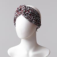 Desenli Saç Bandı - Siyah Kırmızı - Thumbnail