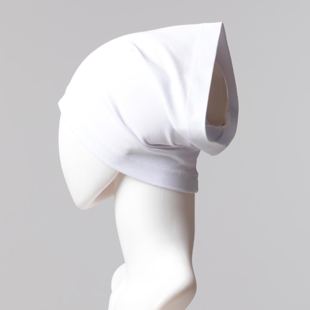 Düz Boru Bone - Beyaz