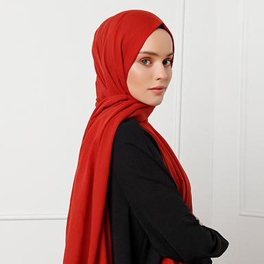 ipekistanbul - Düz Renk %100 Pamuk Şal - Kiremit