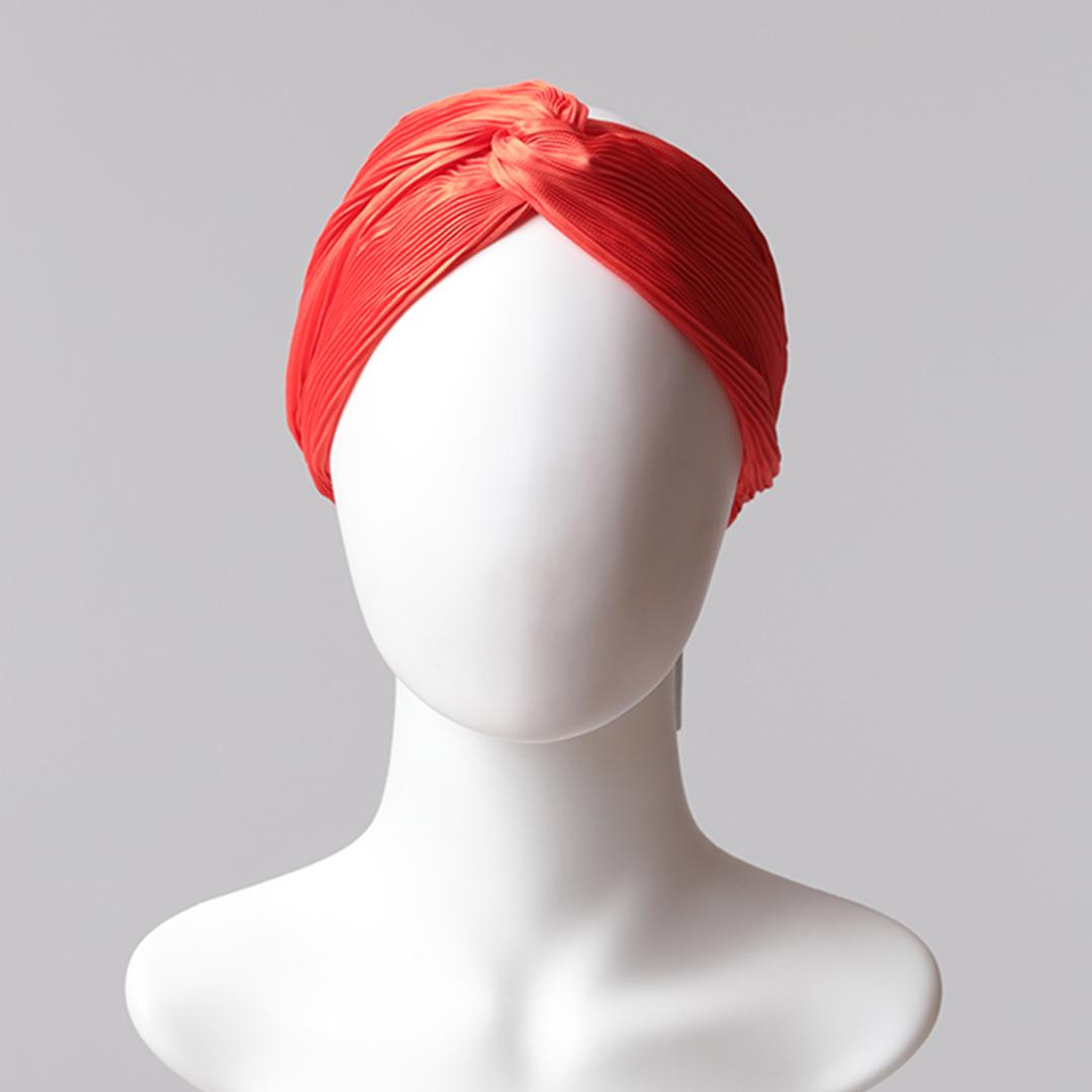 Düz Saç Bandı Pliseli - Turuncu