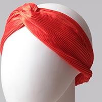 Düz Saç Bandı Pliseli - Turuncu - Thumbnail