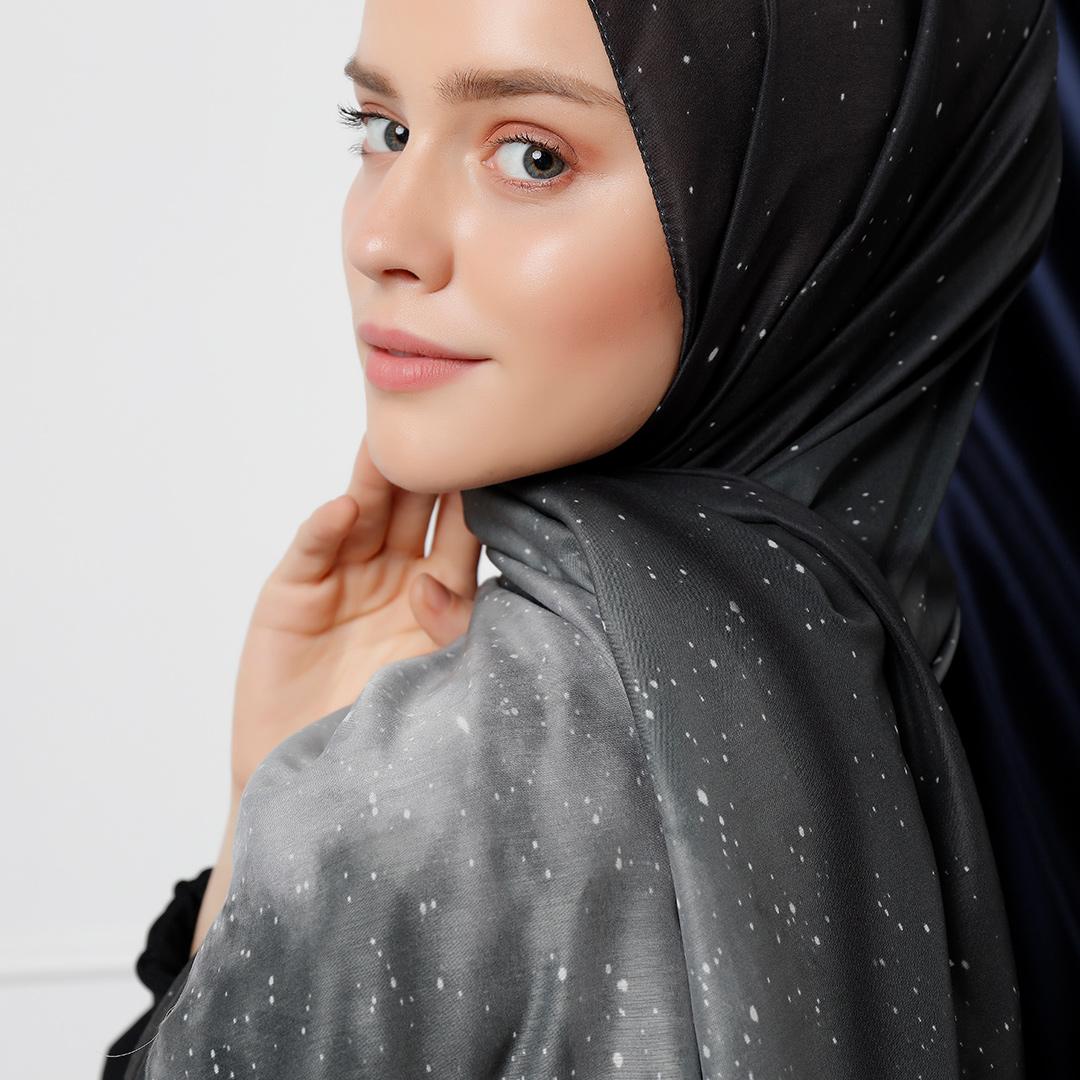 Galaxy Desenli Şal - Siyah