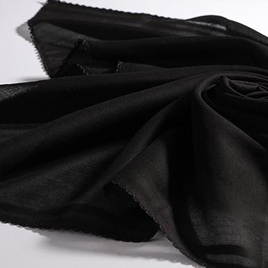 ipekistanbul - İç Başörtü - % 100 Pamuk - Siyah