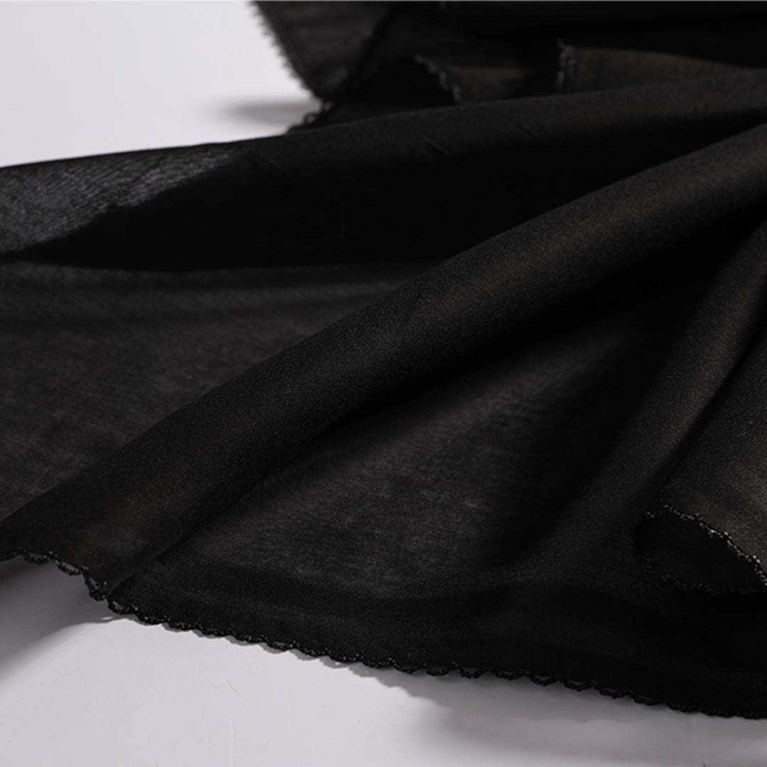 İç Başörtü - % 100 Pamuk - Siyah