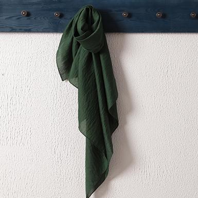 ipekistanbul - İpekli Günlük 100x100 cm Eşarp - Çam Yeşili