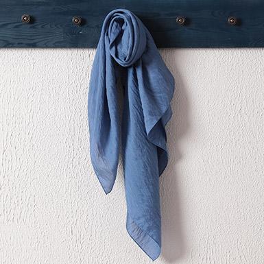 ipekistanbul - İpekli Günlük 100x100 cm Eşarp - Mavi