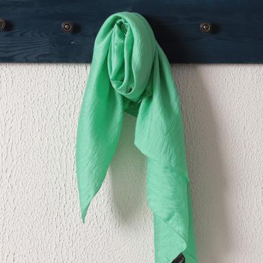 ipekistanbul - İpekli Günlük 100x100 cm Eşarp - Neon Yeşil