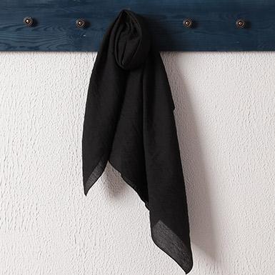 ipekistanbul - İpekli Günlük 100x100 cm Eşarp - Siyah