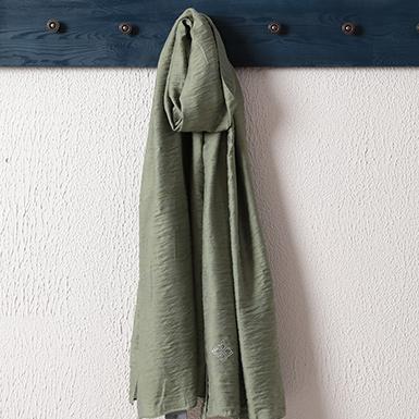 ipekistanbul - İpekli Jakar Şal - Baklava Desen - Yeşil