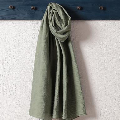 ipekistanbul - İpekli Jakar Şal - Çizgi Desen - Yeşil