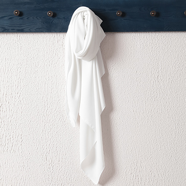ipekistanbul - Medine İpeği Şal Eşarp 110 x 110 cm - Beyaz