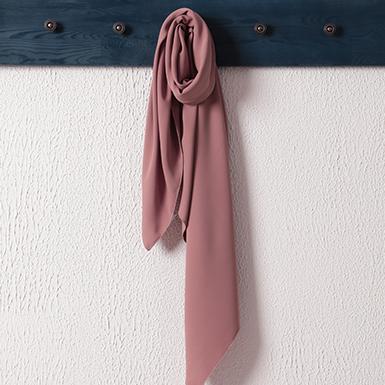 ipekistanbul - Medine İpeği Şal Eşarp 110 x 110 cm - Koyu Pudra