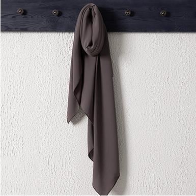 ipekistanbul - Medine İpeği Şal Eşarp 110 x 110 cm - Koyu Taş