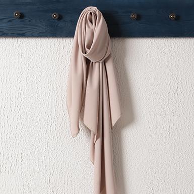 ipekistanbul - Medine İpeği Şal Eşarp 110 x 110 cm - Latte