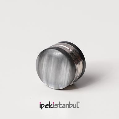 ipekistanbul - Mıknatıslı Eşarp Klipsi - Füme