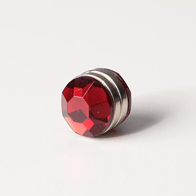 ipekistanbul - Mıknatıslı Eşarp Klipsi - Kristal - Kırmızı
