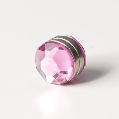 ipekistanbul - Mıknatıslı Eşarp Klipsi - Kristal - Pembe