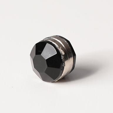 ipekistanbul - Mıknatıslı Eşarp Klipsi - Kristal - Siyah