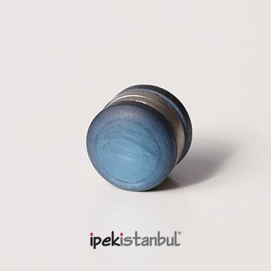 ipekistanbul - Mıknatıslı Eşarp Klipsi - Mat - Mavi