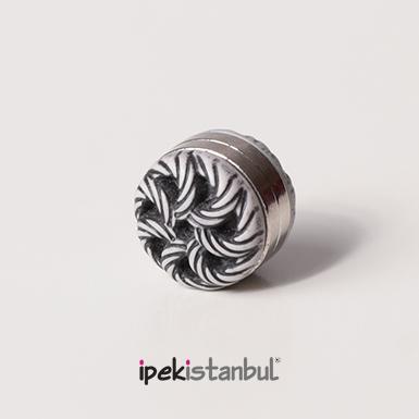 ipekistanbul - Mıknatıslı Eşarp Klipsi - Rüzgar Gülü- Gri