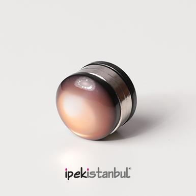 ipekistanbul - Mıknatıslı Eşarp Klipsi - Sütlü kahve