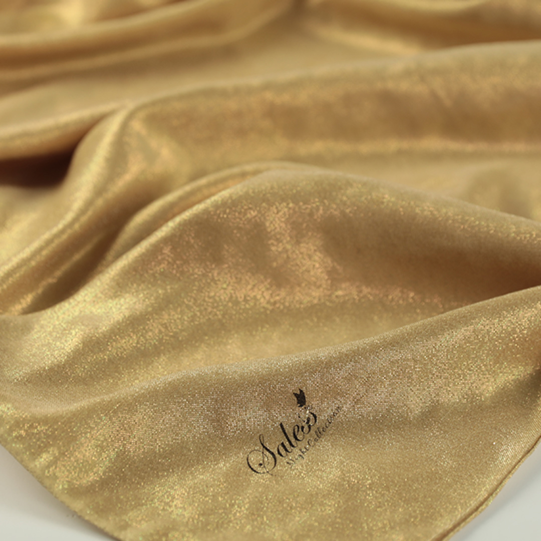 Night Collection Sedef Simli Şal - Gold