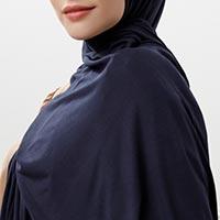 Penye Şal - Koyu Lacivert - Thumbnail